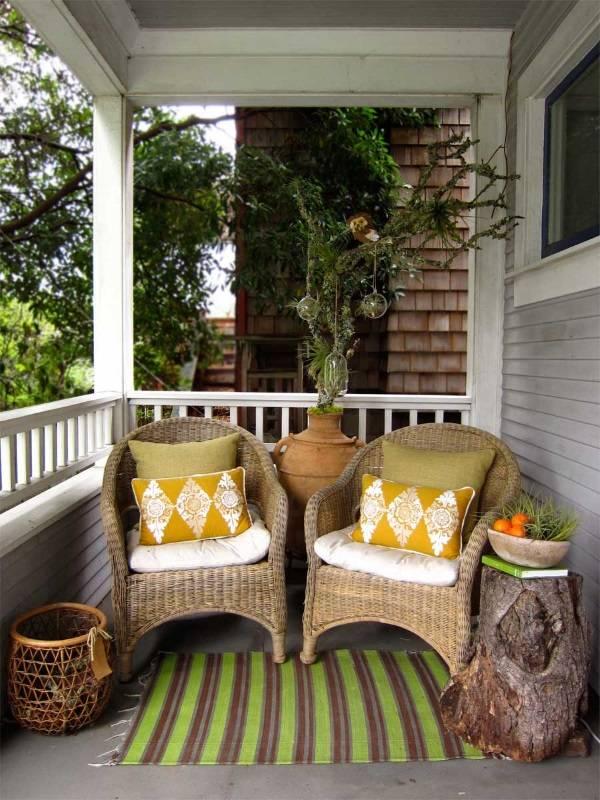 Плетеная мебель для веранды