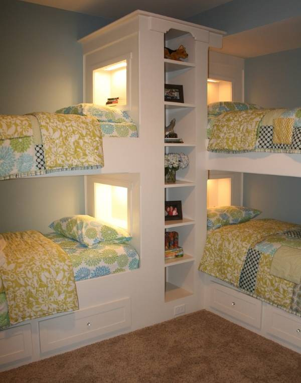 Подсветка двухъярусных кроватей для детей