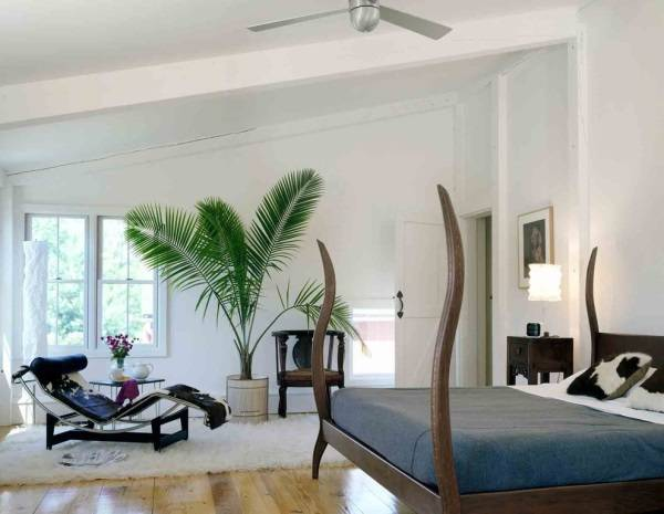 Красивый эко стиль спальни