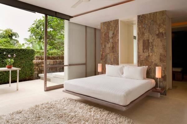 Пробка в дизайне спальни