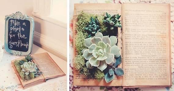 Декор - книга с растениями