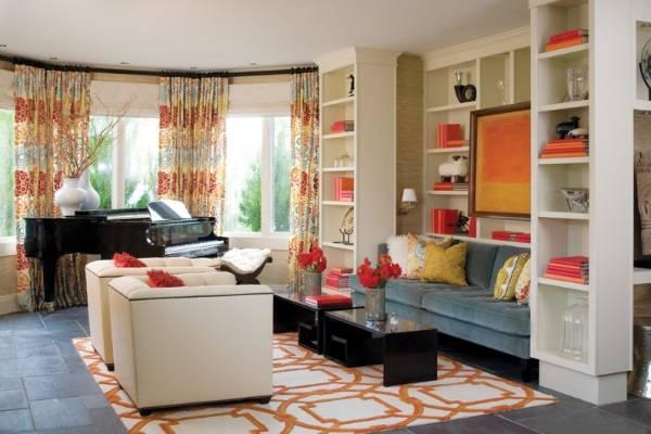Разноцветные шторы в дизайне интерьера