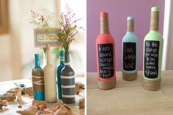 Покраска и декор бутылок