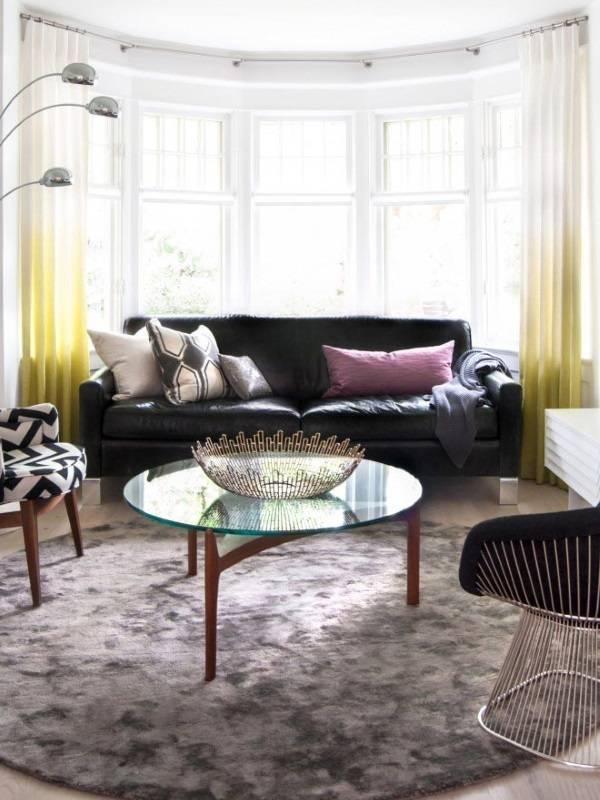 Шторы ombre для современной гостиной