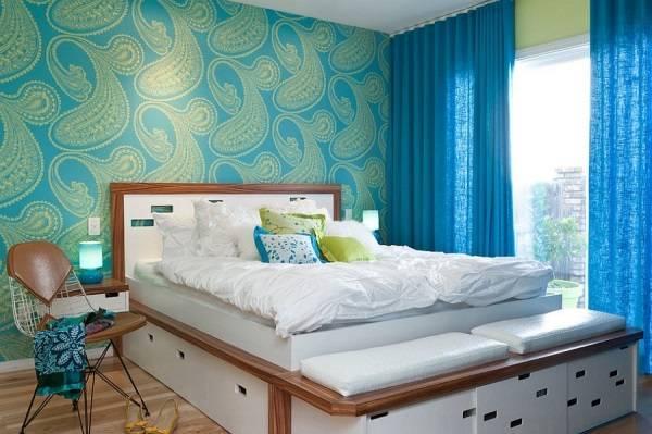 Спальня в ретро и современном стиле