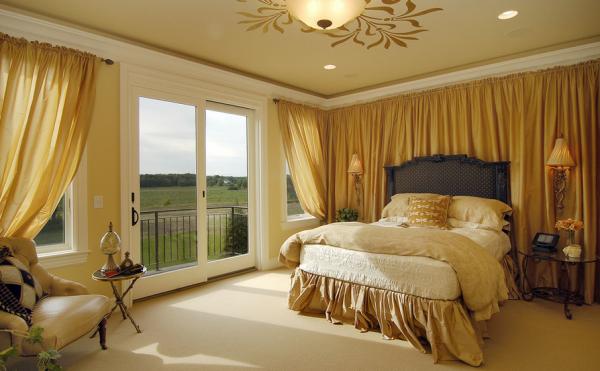 Стиль luxury в спальни