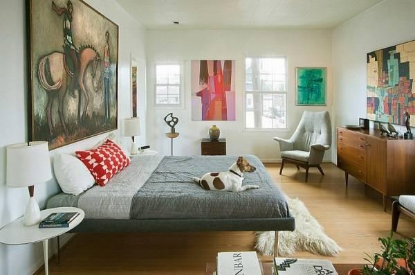 Стильная мебель для спальни в стиле минимализм 60-х