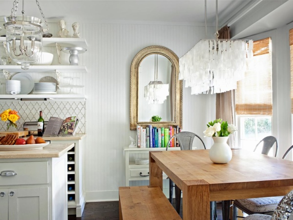 Шикарная белая кухня прованс