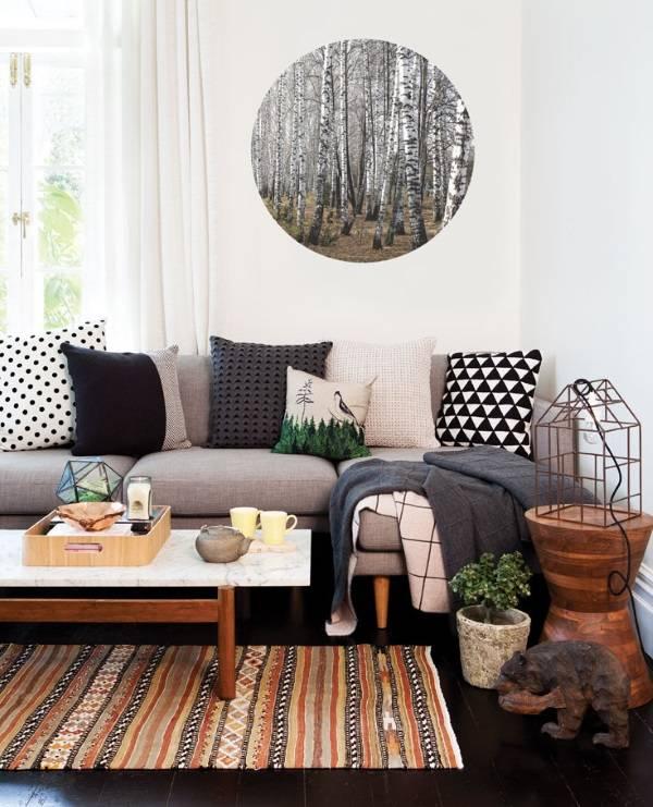 Уютная гостиная со стильным декором