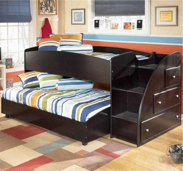 Выдвижная двухъярусная кровать