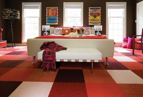 Яркая спальня в стиле 60-х