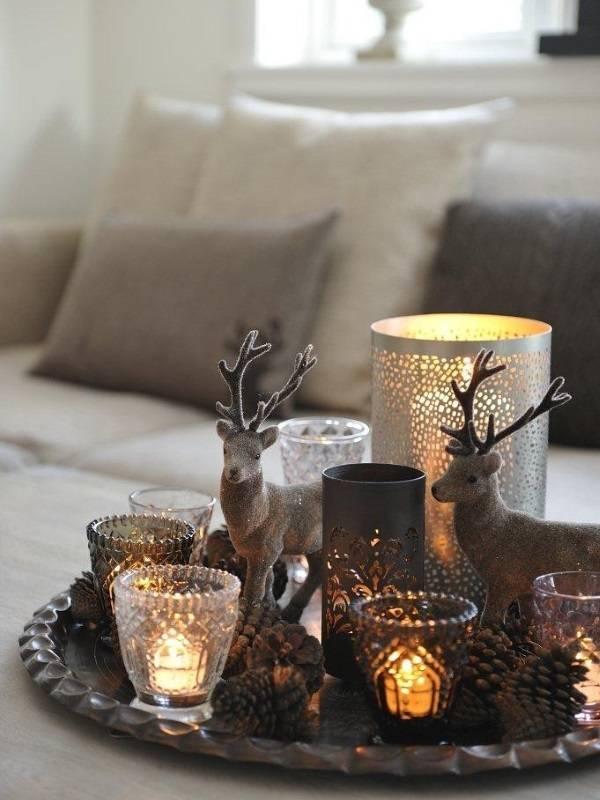 Зимний декор для гостиной