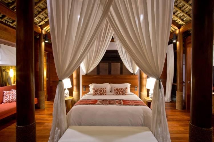 Дизайн спальни в отеле Nihiwatu