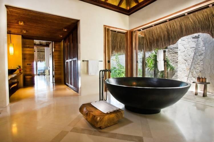 Дизайн ванной в отеле Nihiwatu