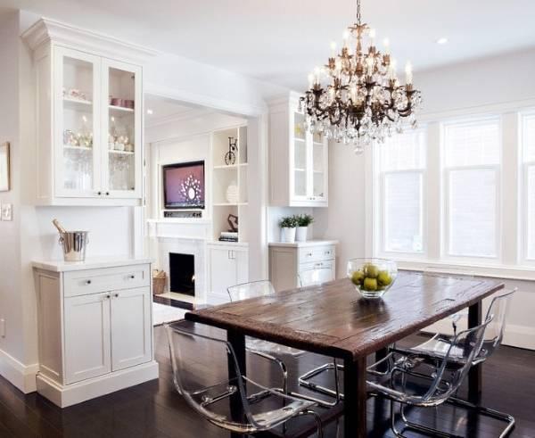 Акриловая мебель на стильной кухне
