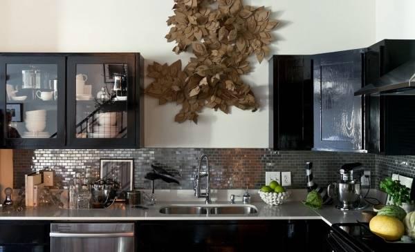 Декор стен кухни своими руками