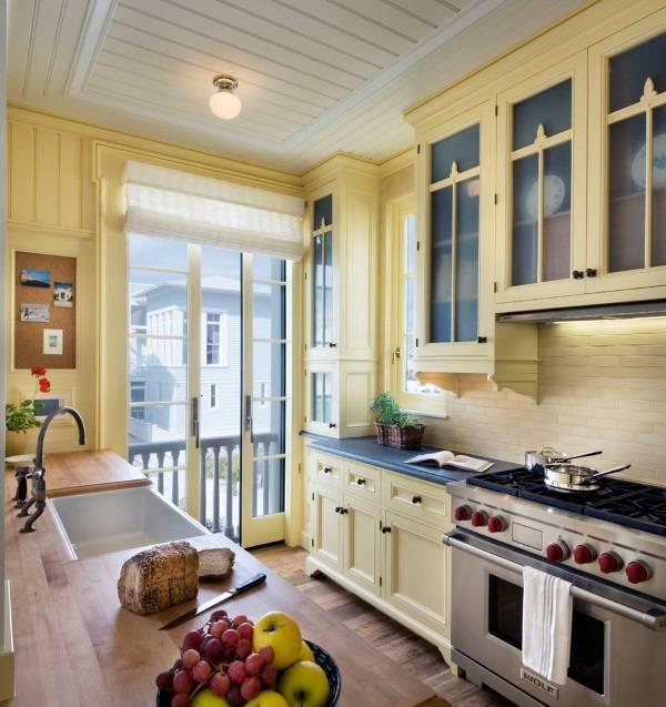 Пробковая панель в дизайне кухни
