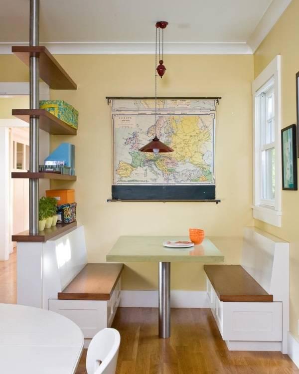 Географическая карта в дизайне кухни