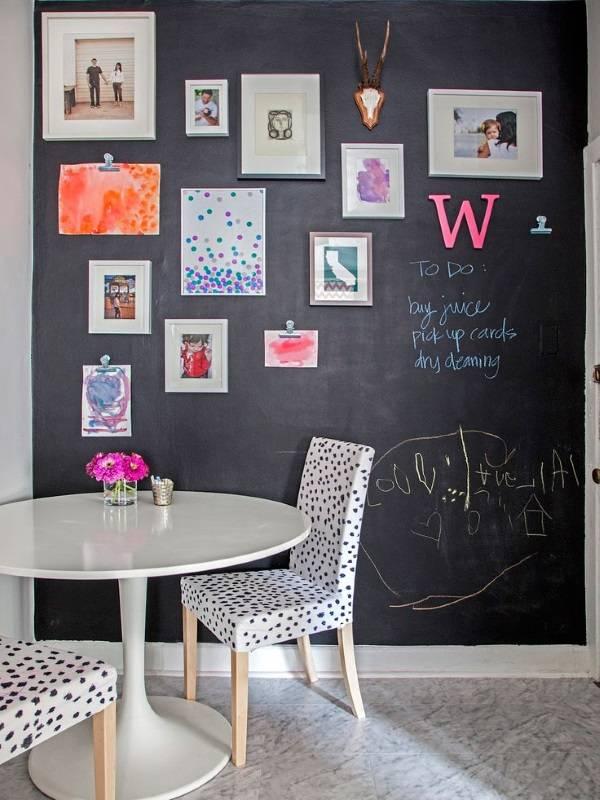 Стена для рисования мелом на кухне