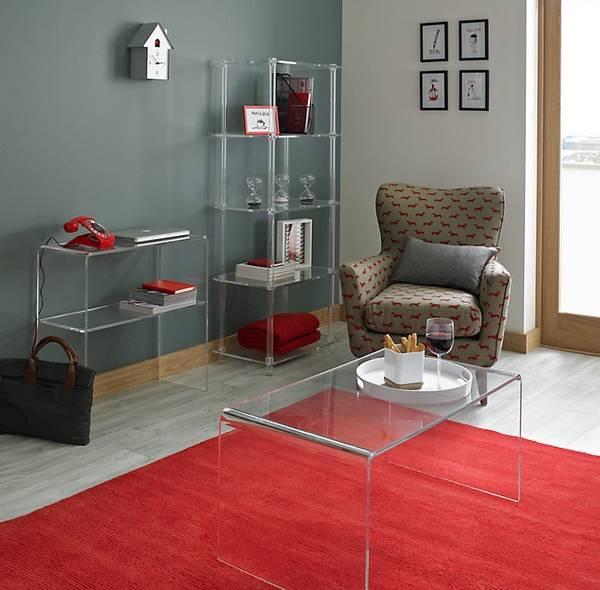 Дизайн интерьера с прозрачной мебелью