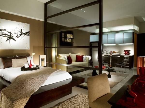 Дизайн квартиры студии в китайском стиле