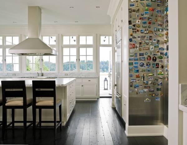 Дизайн кухни с магнитной стеной