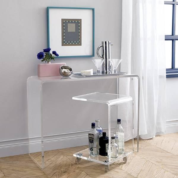 Акриловая мебель в дизайне интерьера