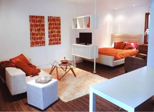 Квартира студия в минималистском стиле