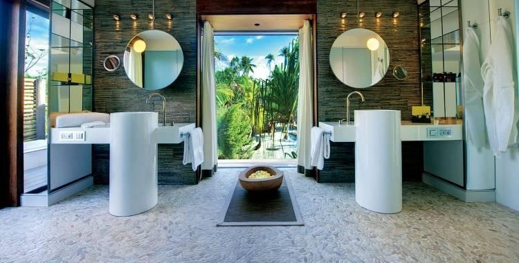 Дизайн ванной в отеле The Brando