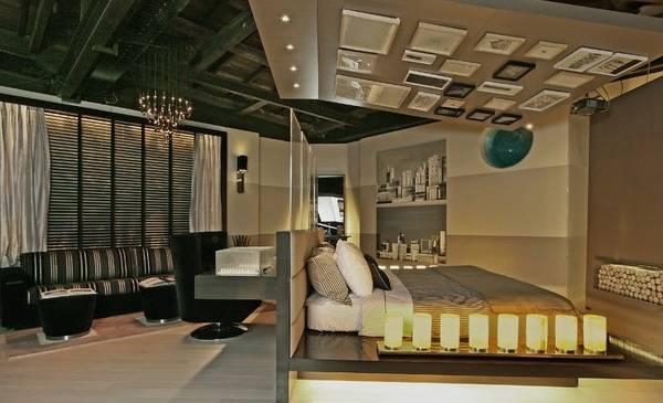 Гламурный дизайн квартиры студии