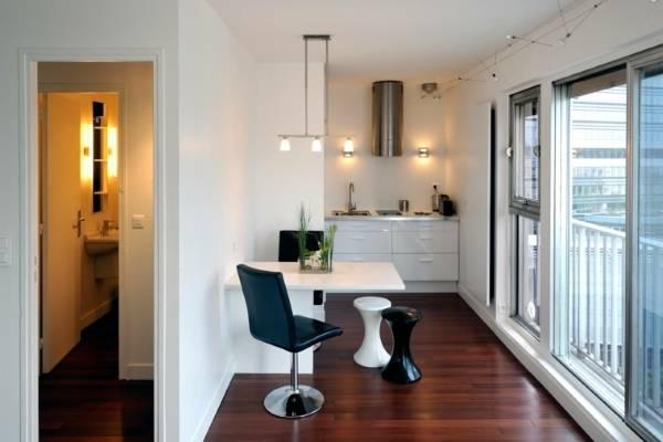 Отдельный зоны квартиры студии
