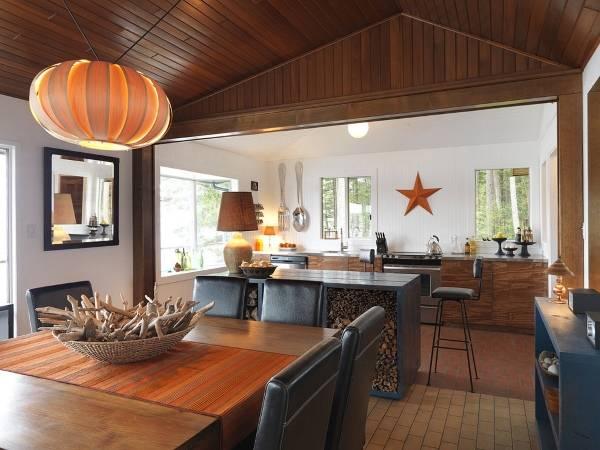 Стильное декорирование большой кухни
