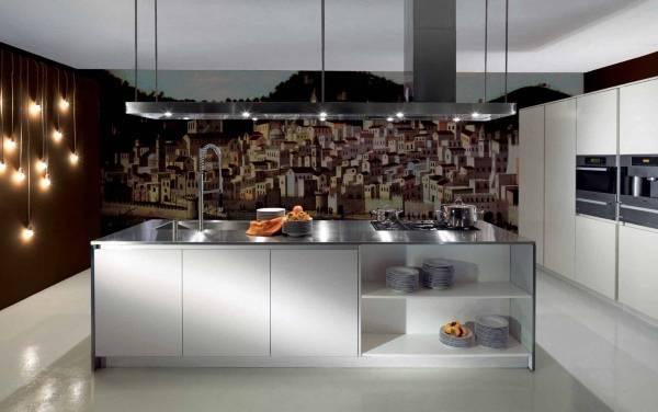 Декор стен светильниками и фотообоями