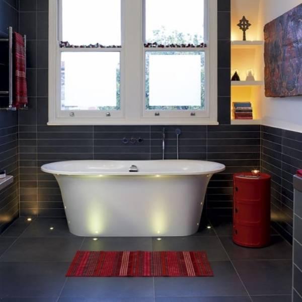 Отдельностоящая ванна с подсветкой