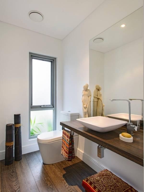 Ванная комната в восточном стиле с минимализмом