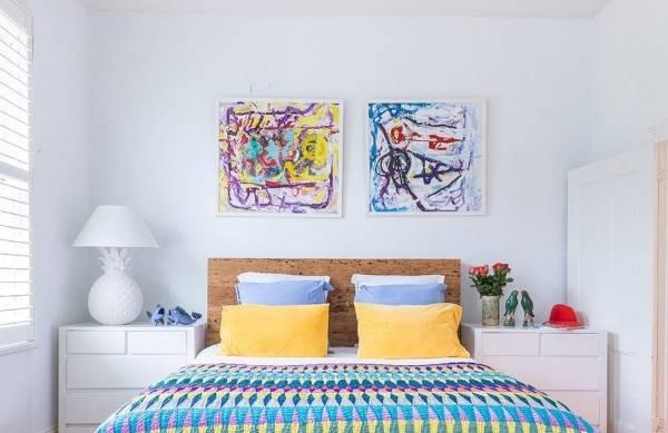 Украшение прикроватных тумбочек в спальне