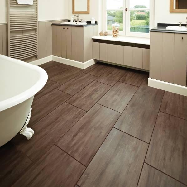 Деревянная плитка для ванной комнаты