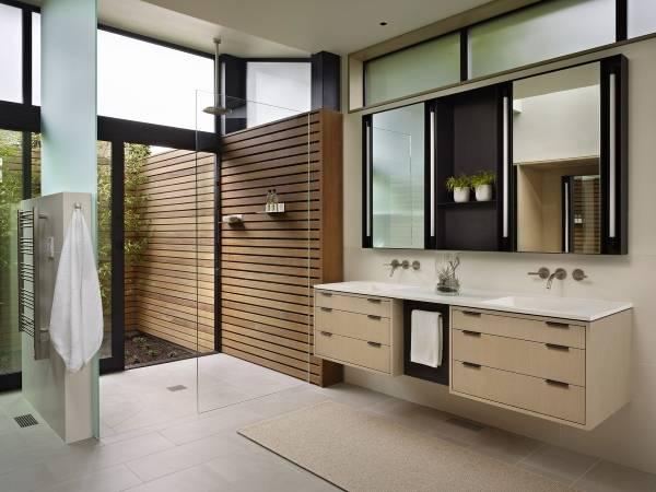 Дизайн ванной комнаты 2015: минимализм