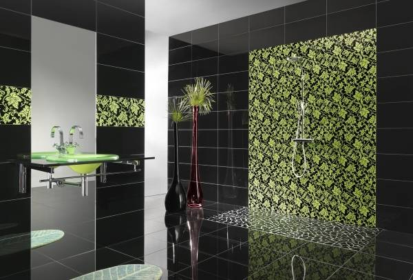 Дизайн ванной комнаты 2015: плитка для ванной
