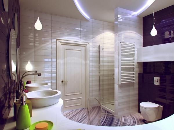 Интерьеры красивых ванных комнат 180