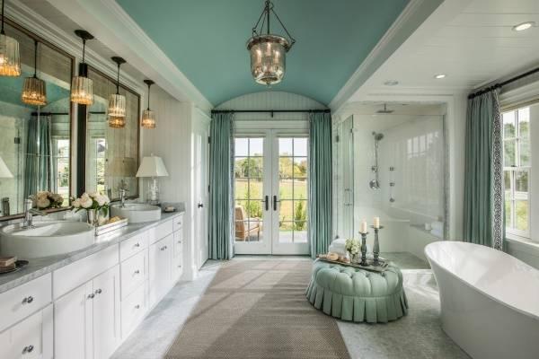 Красивые подвесные светильники для ванной