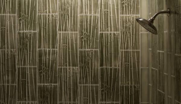Плитка для ванной под бамбук