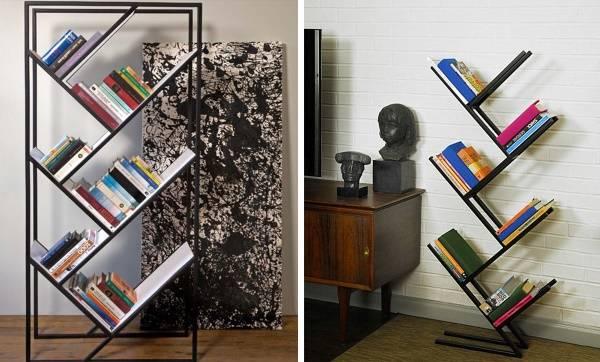 Стильные книжные полки для гостиной