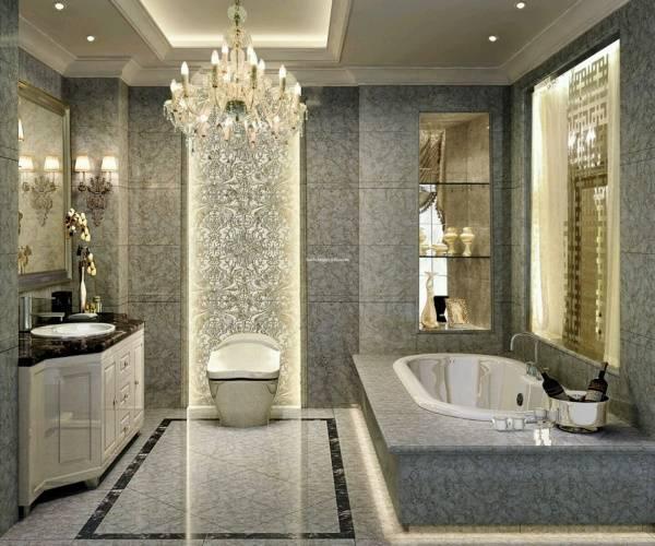 Дизайн ванной комнаты в стиле Luxury