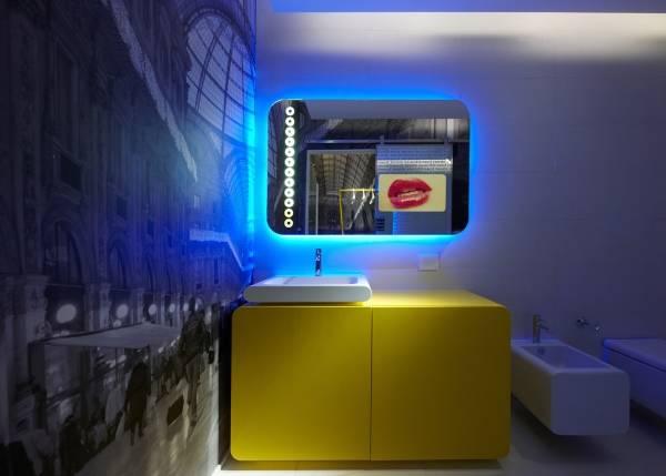 Дизайн ванной комнаты в стиле hi-tech