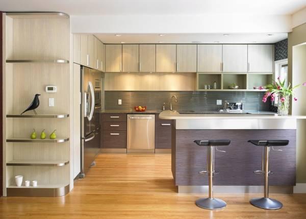 Дизайн кухни с барной стойкой 2015