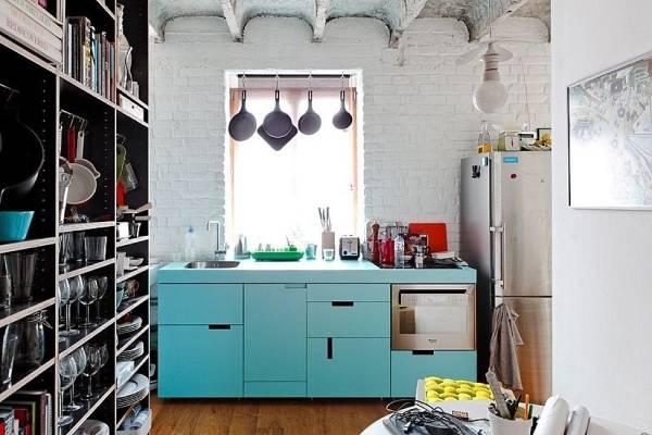 Современная кухня в стиле лофт 2015