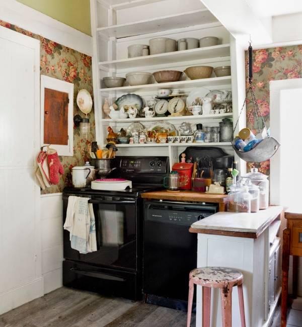 Обои для кухни в стиле прованс