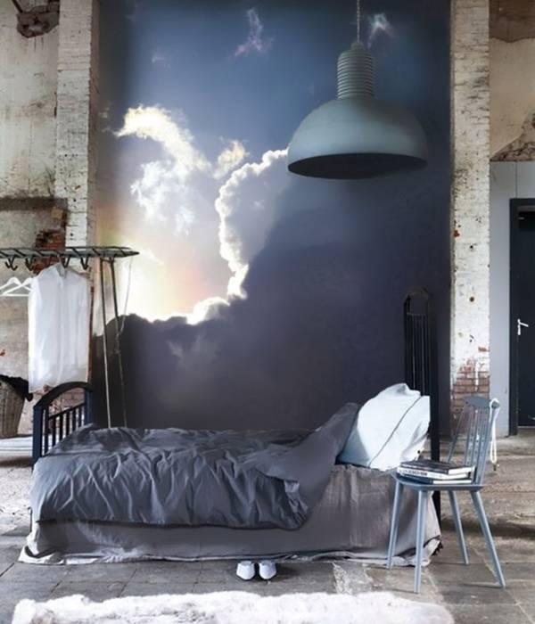 Фотообои небо в дизайне интерьера
