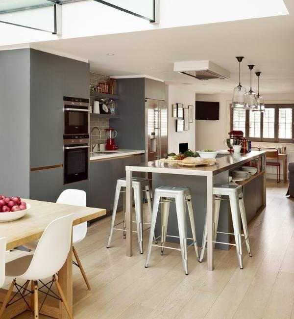 Красивые серые кухни 2015